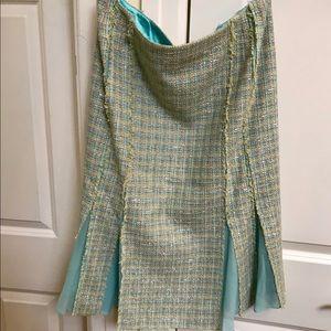 Carmen Marc Valvo Atelier Tweed Skirt